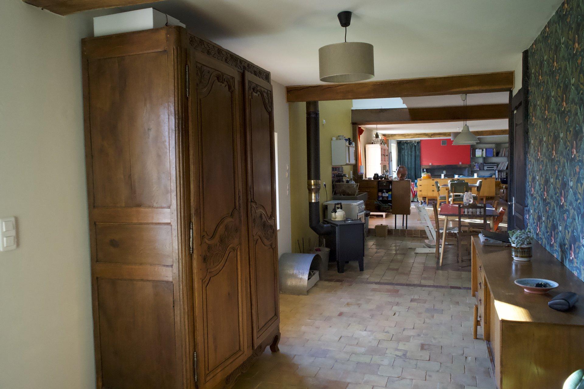Agréable maison de campagne avec de beaux volumes