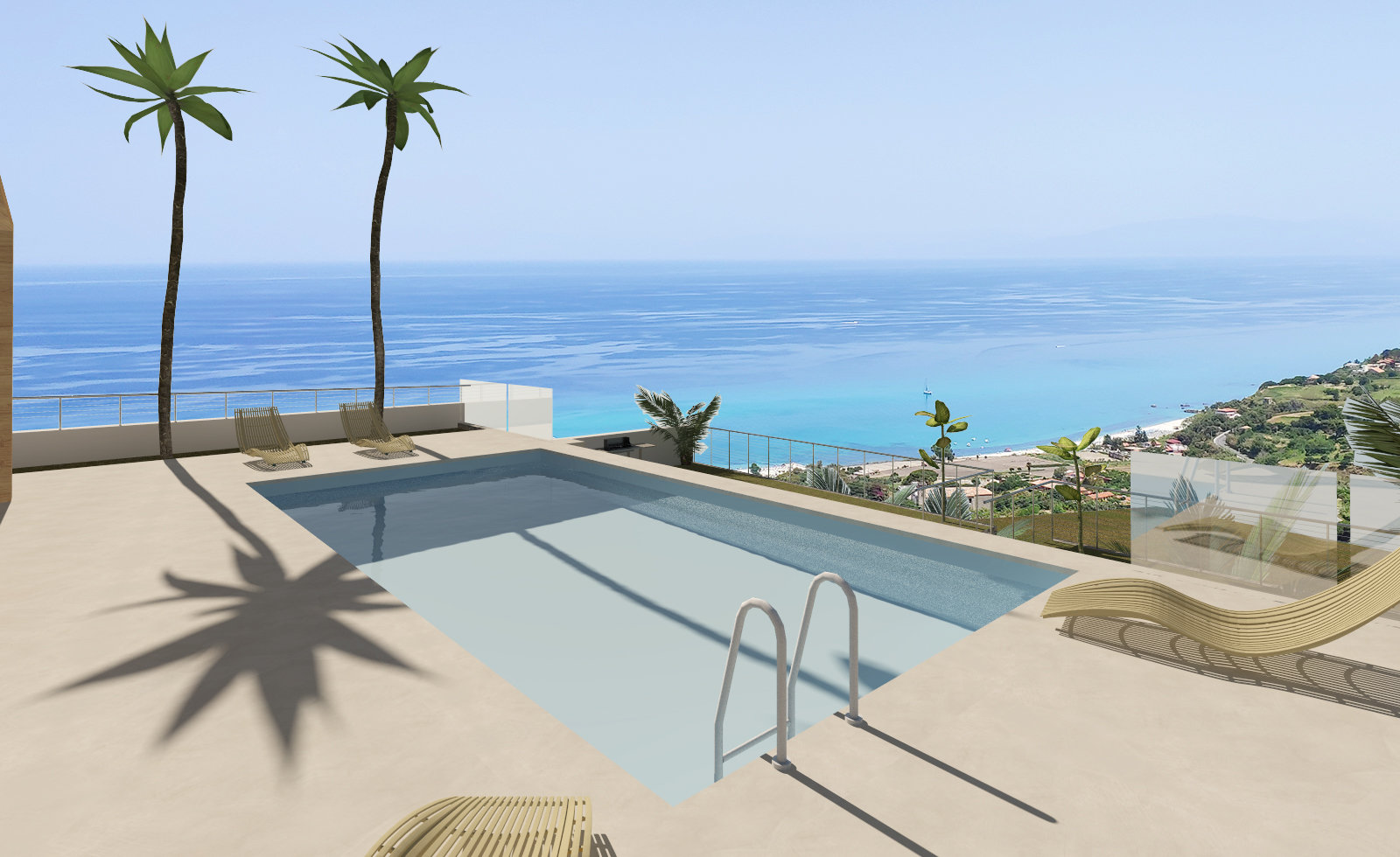 Villa with beach access - pool possible