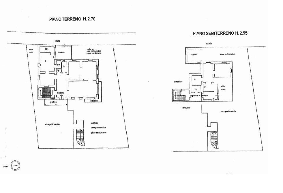 Premeno, period villa for sale on the lake - floor plan A