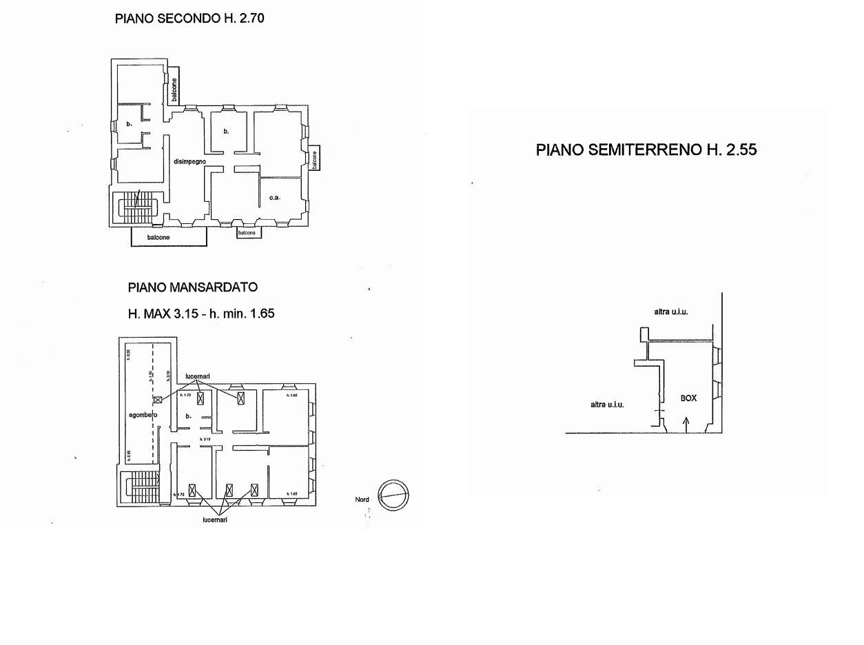 Premeno, period villa for sale on the lake - floor plan B