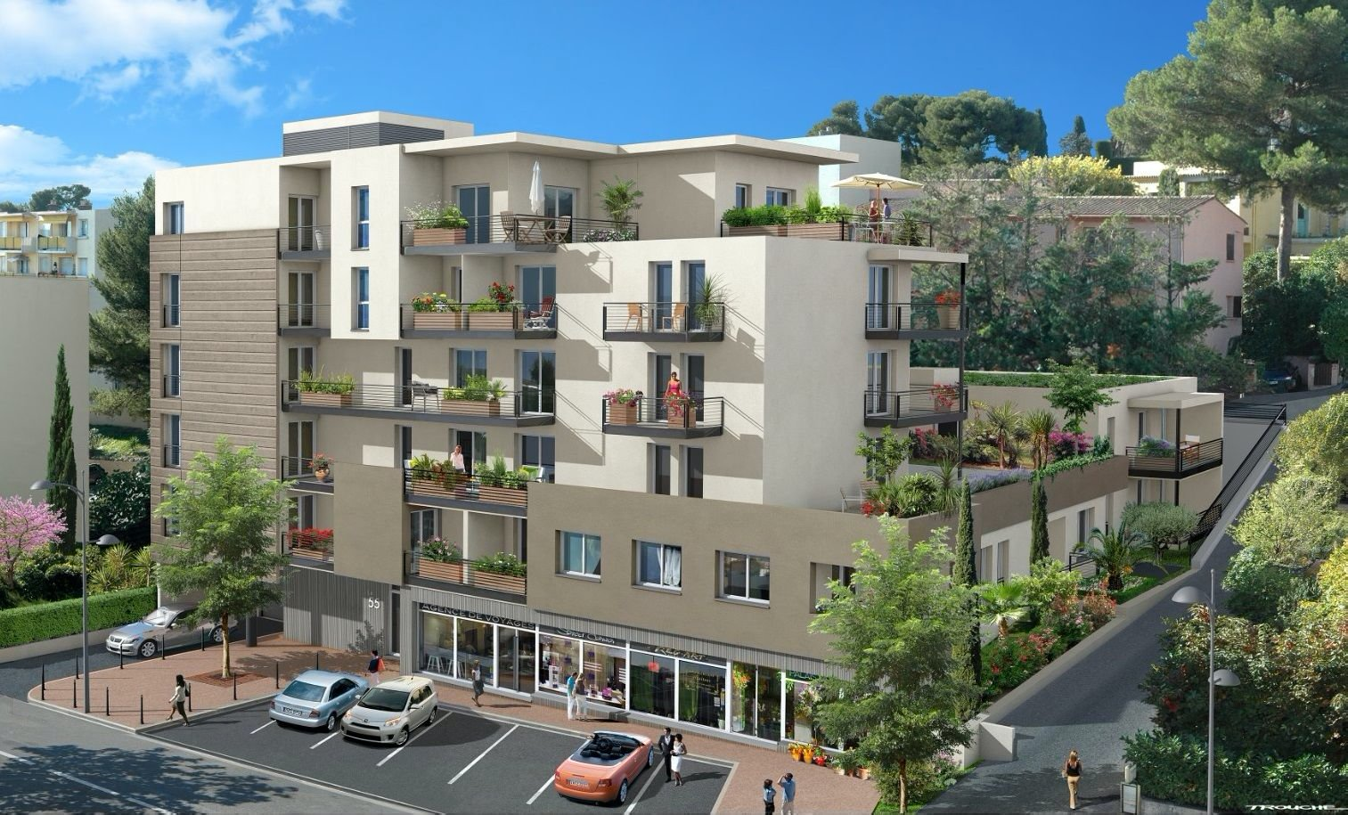 New development in Le Cannet - 10 min from the Croisette