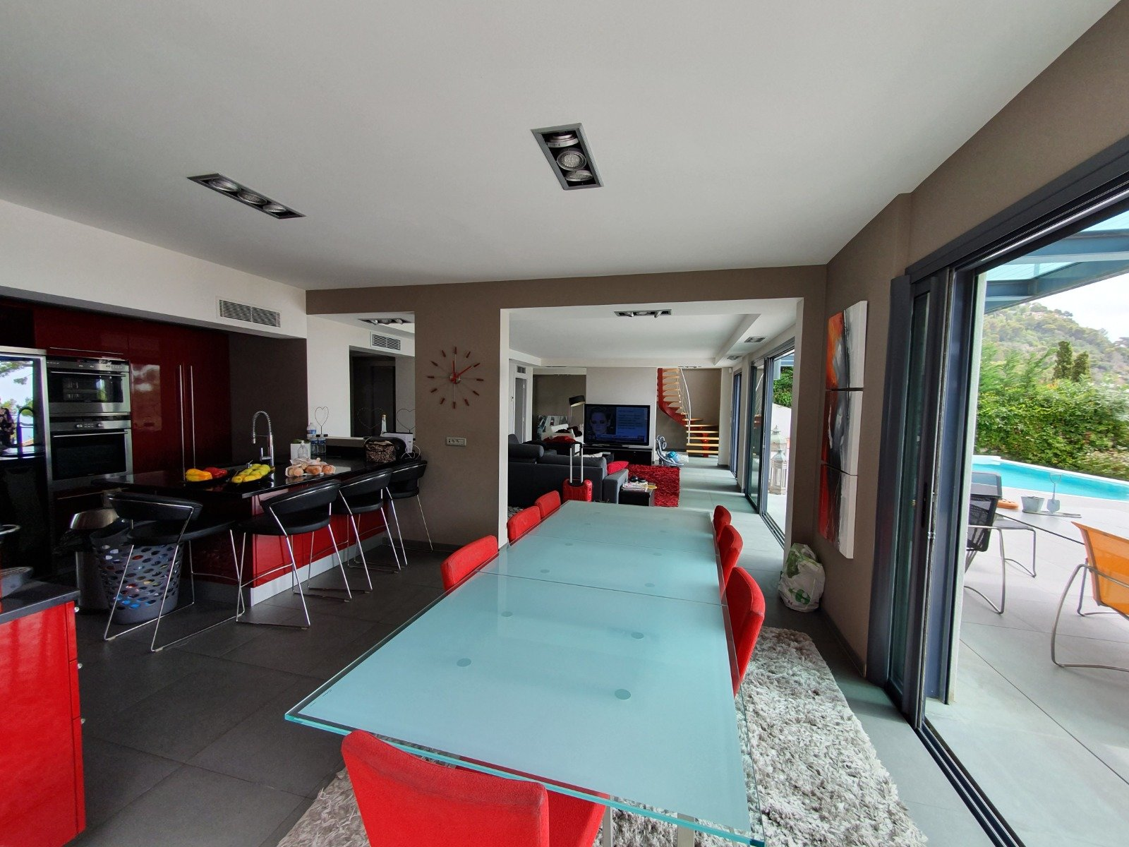 Col de Villefranche, villa contemporaine 6 pièces avec vue féérique
