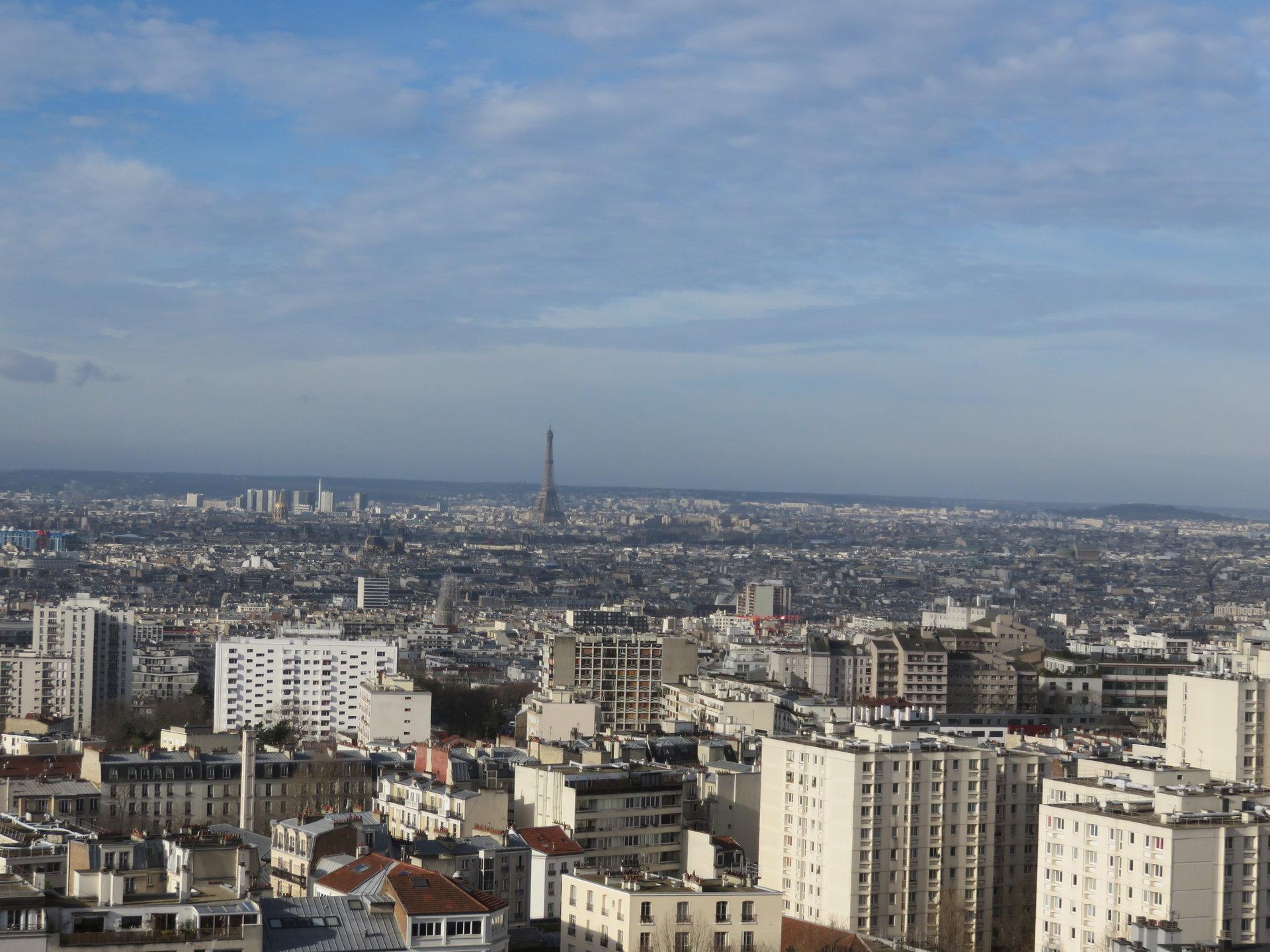 Paris - XXème - SAINT FARGEAU - M° Saint Fargeau / Télégraphe - 3 Pièces - SOLEIL - VUE IMPRENABLE SUR TOUT PARIS -  LOGGIA - MATÉRIAUX NOBLES - AVANT DERNIER ÉTAGE - PARKING COMPRIS