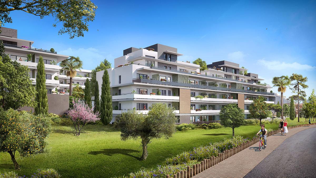 VILLENEUVE LOUBET Plage - Côte d'Azur - vente appartement neuf - Piscine