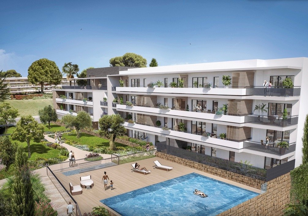 VILLENEUVE LOUBET Plage - French Riviera - 2 bed apartment - swimming pool