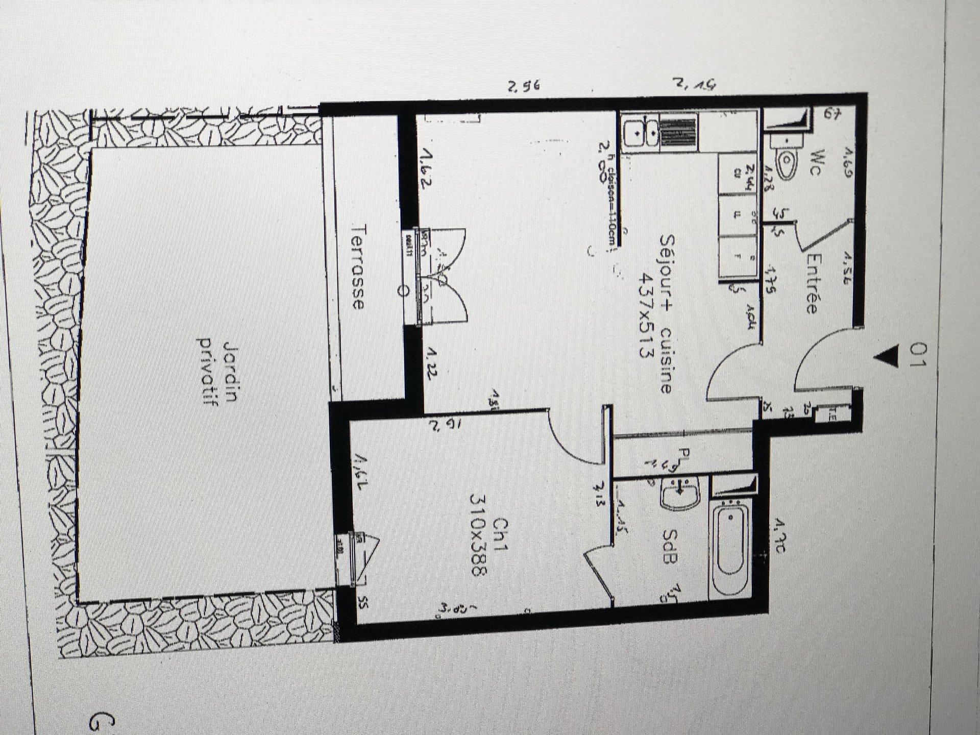 Trés beau 2 pièces de 47 m² à voir vite !