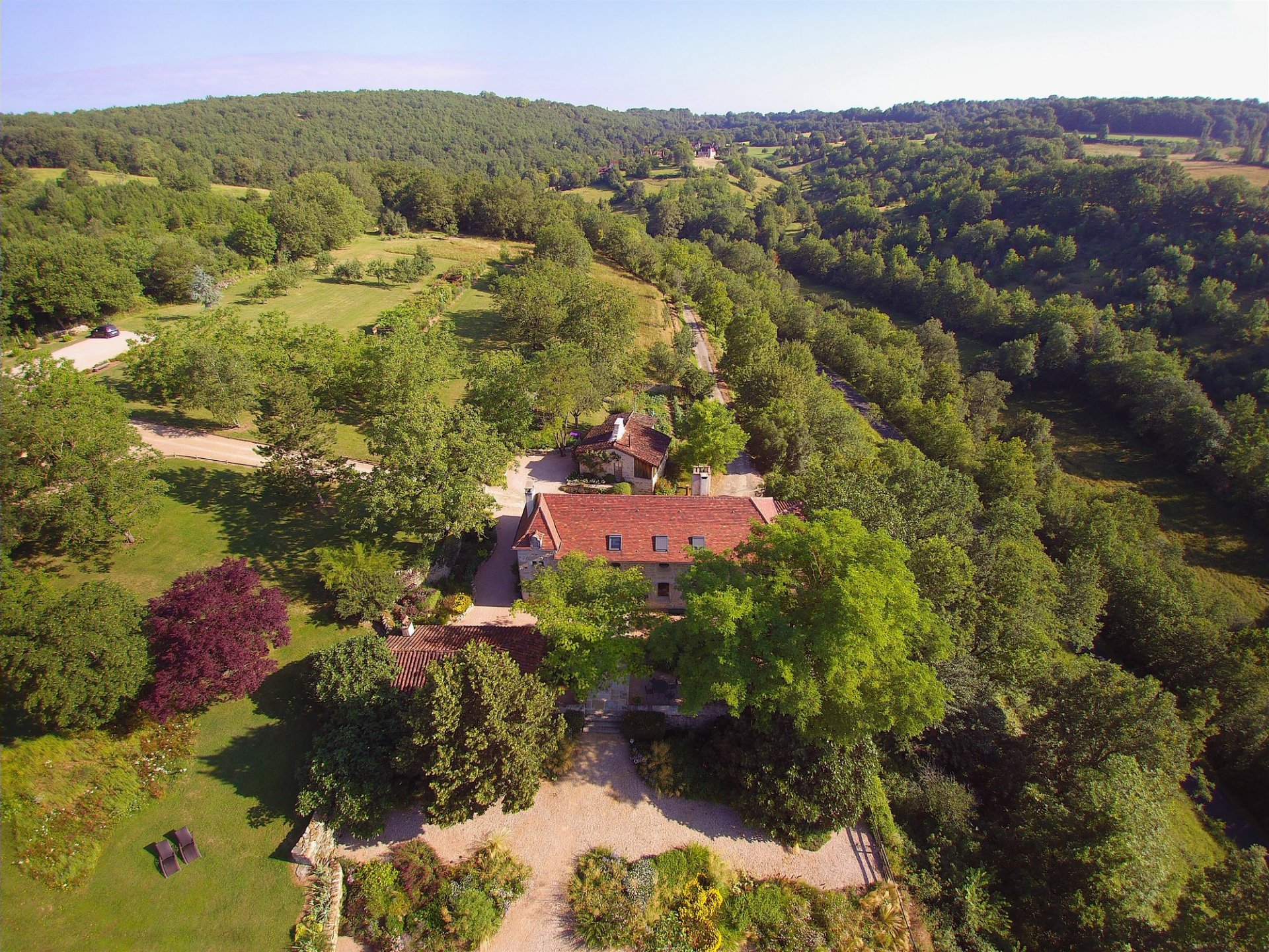 Completely secluded, stunning and peaceful location for thriving gite business