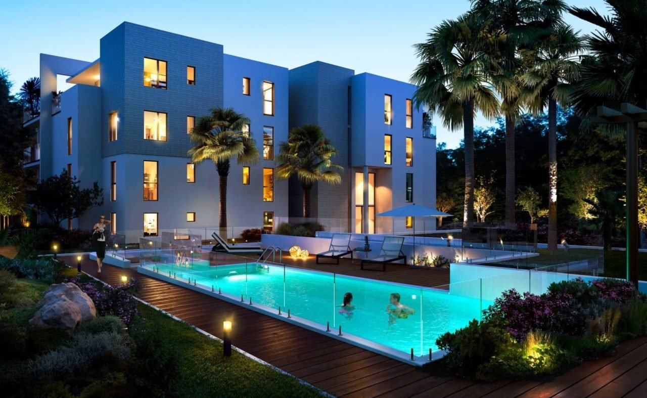 Antibes - New program -- Luxury building with pool. 2 bedrooms garden apartment