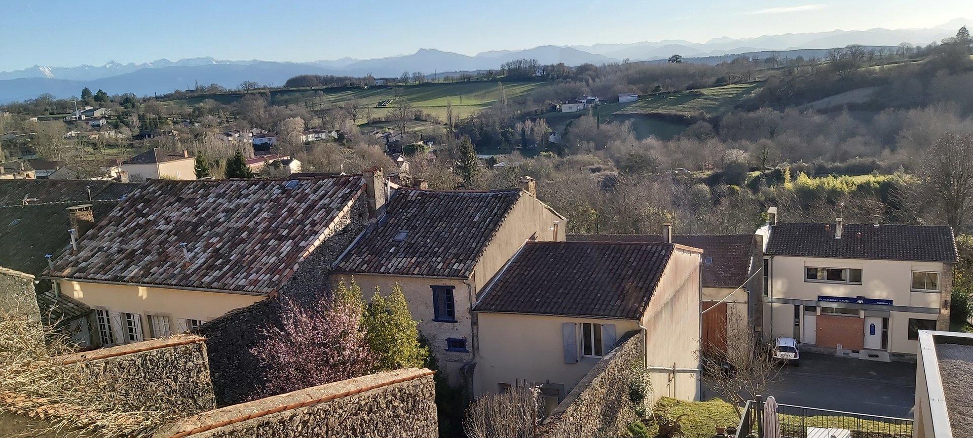 Propriété d'exception, avec jardin, vue panoramique sur les Pyrénées