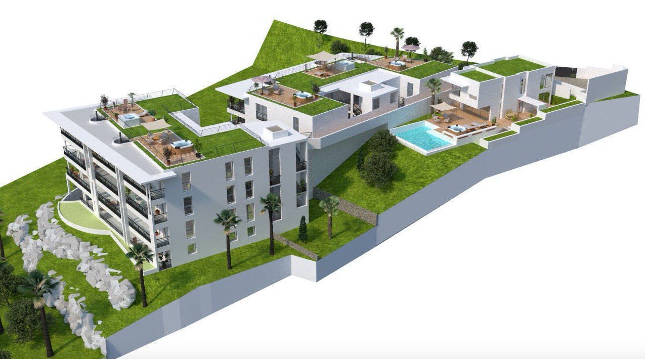 Cannes french riviera unique top floor with 3 bed near Swimming pool water delivery service near me
