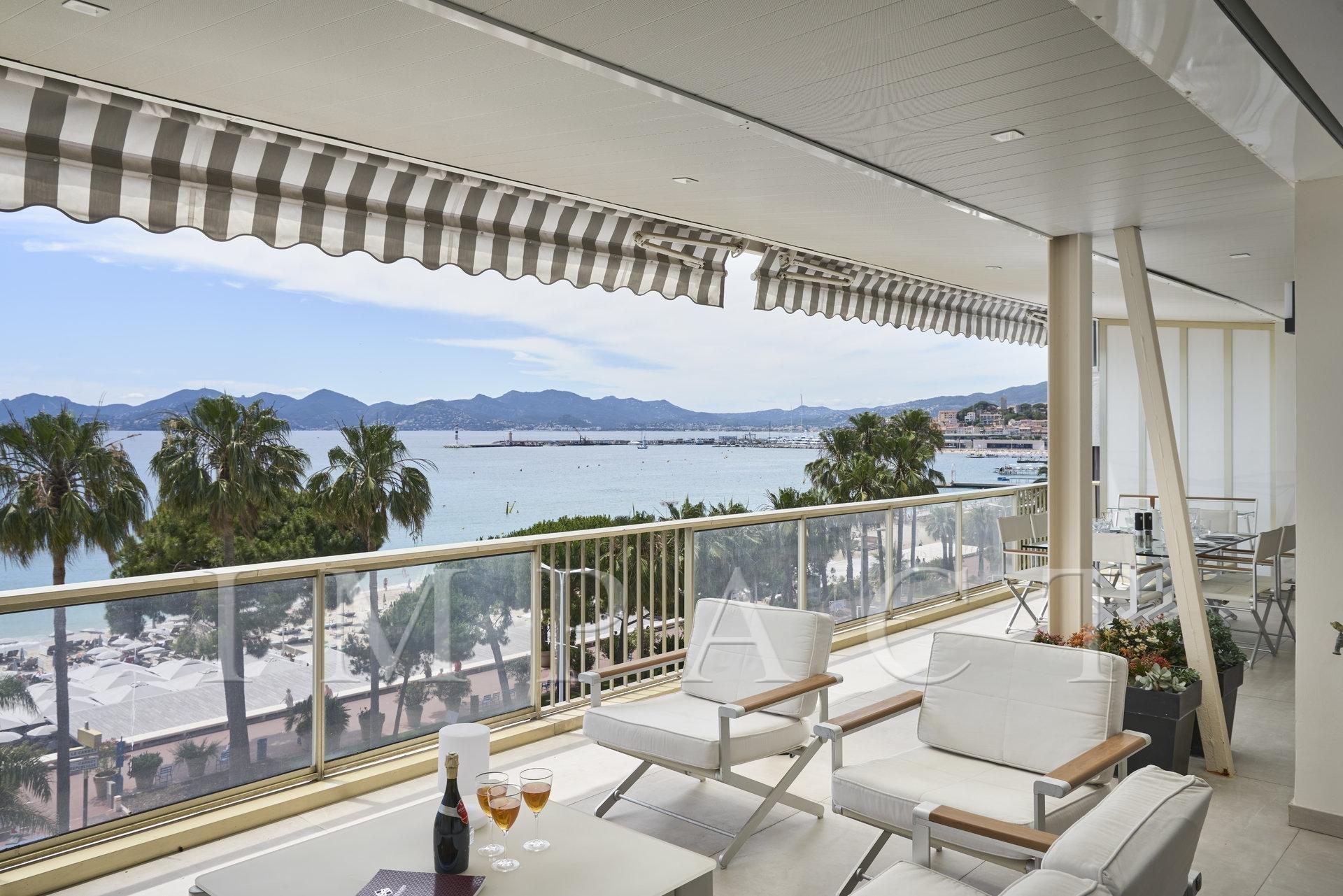 Cannes sea view duplex for sale