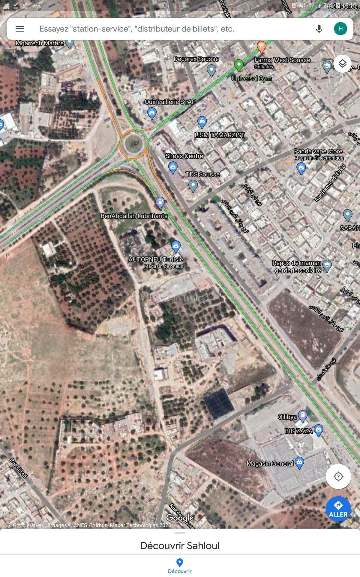 Terrain constructible a sahloul
