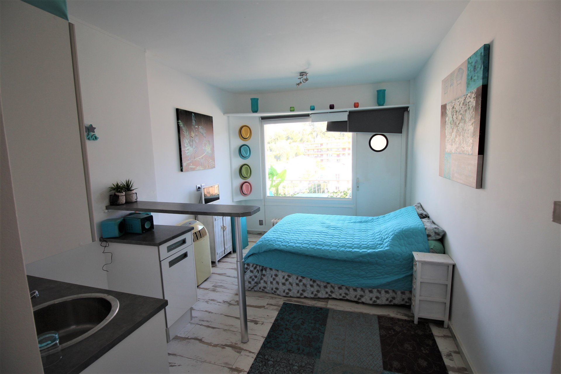 One room apartment 18 sqm Cannes Basse Californie, 5th floor