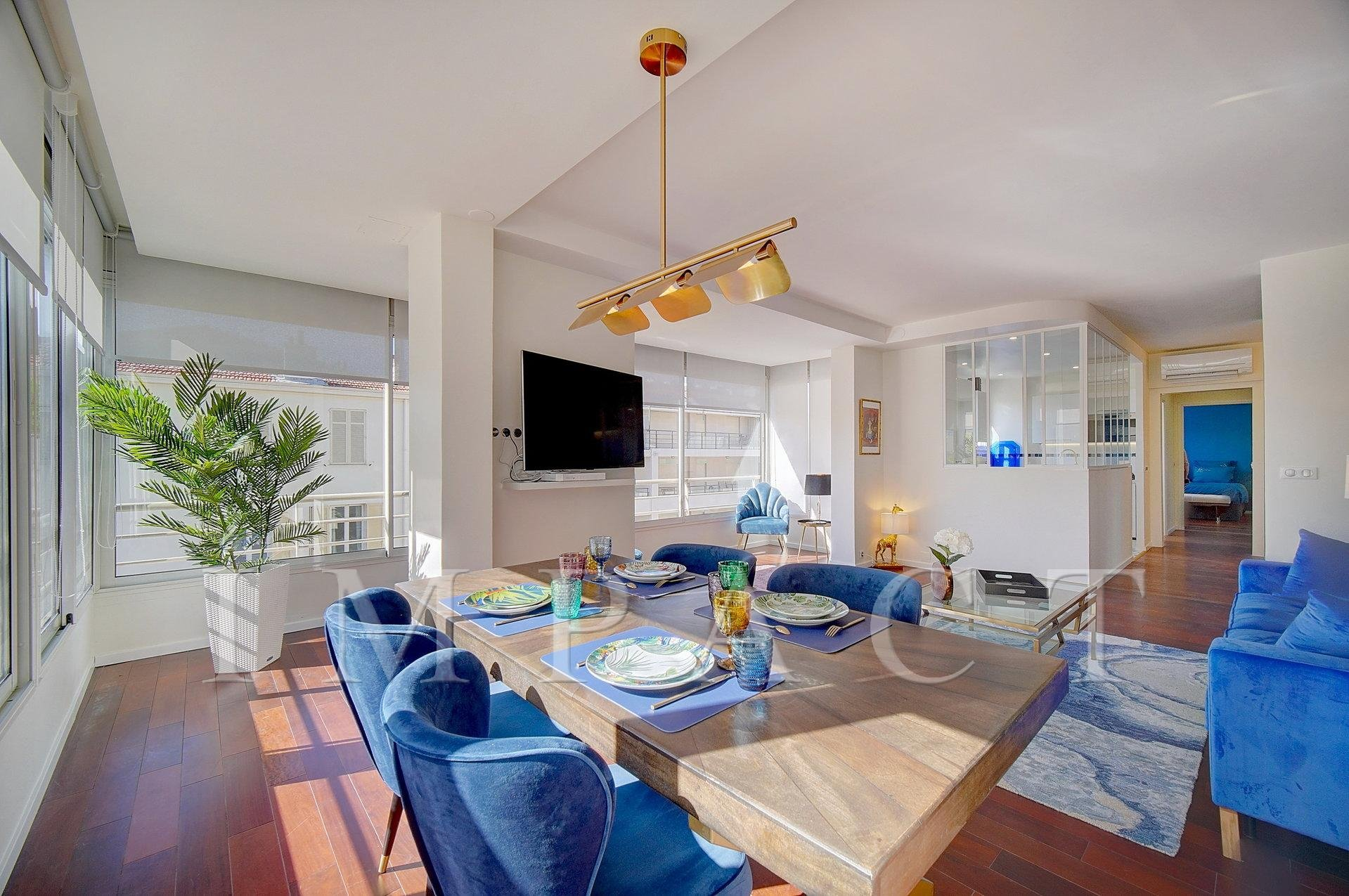 Appartement 1 chambre à louer sur la Croisette à Cannes