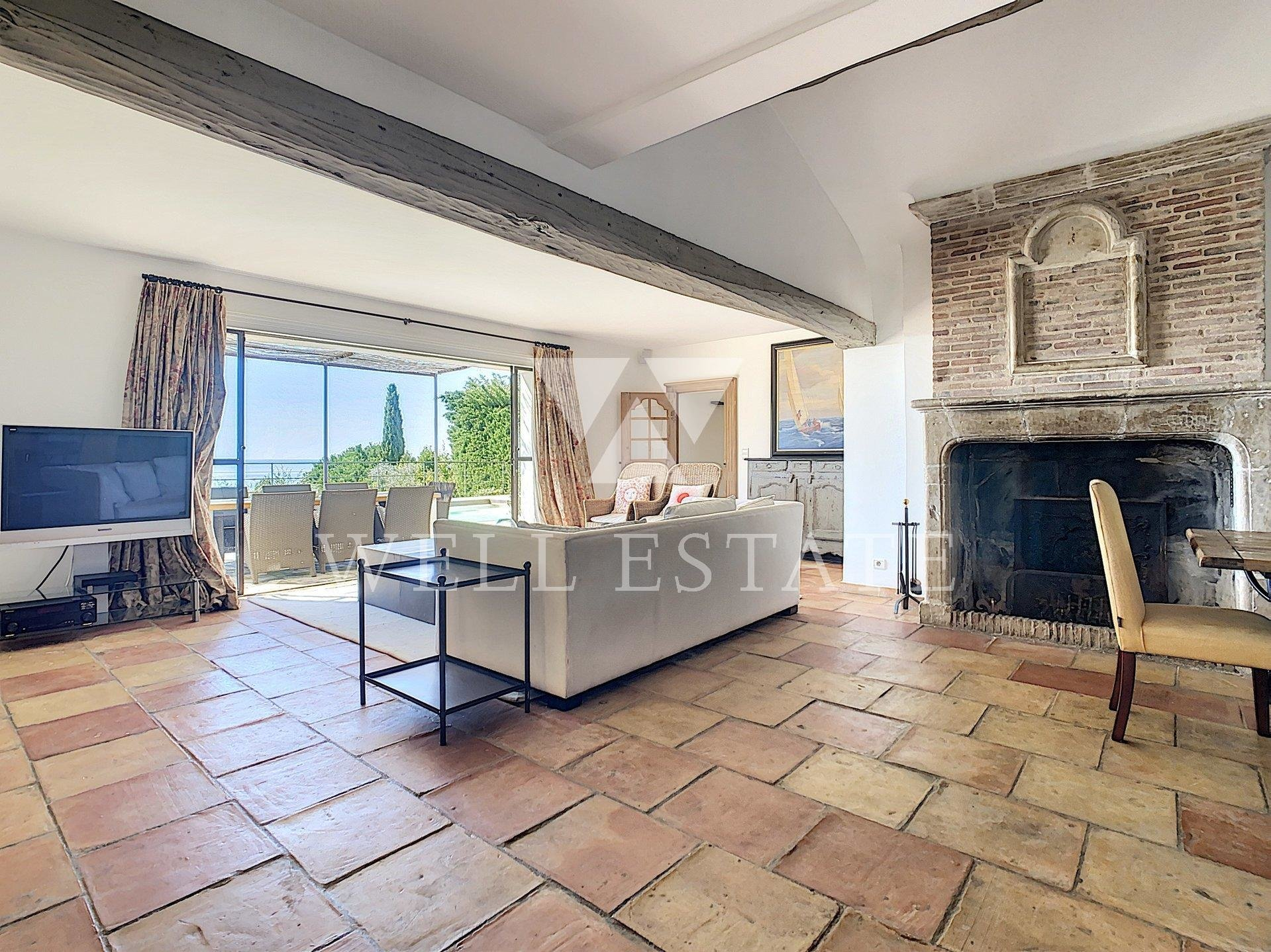 SUPER CANNES CHARMING VILLA 4 BEDROOMS PANORAMIC SEA VIEW SWIMMING POOL