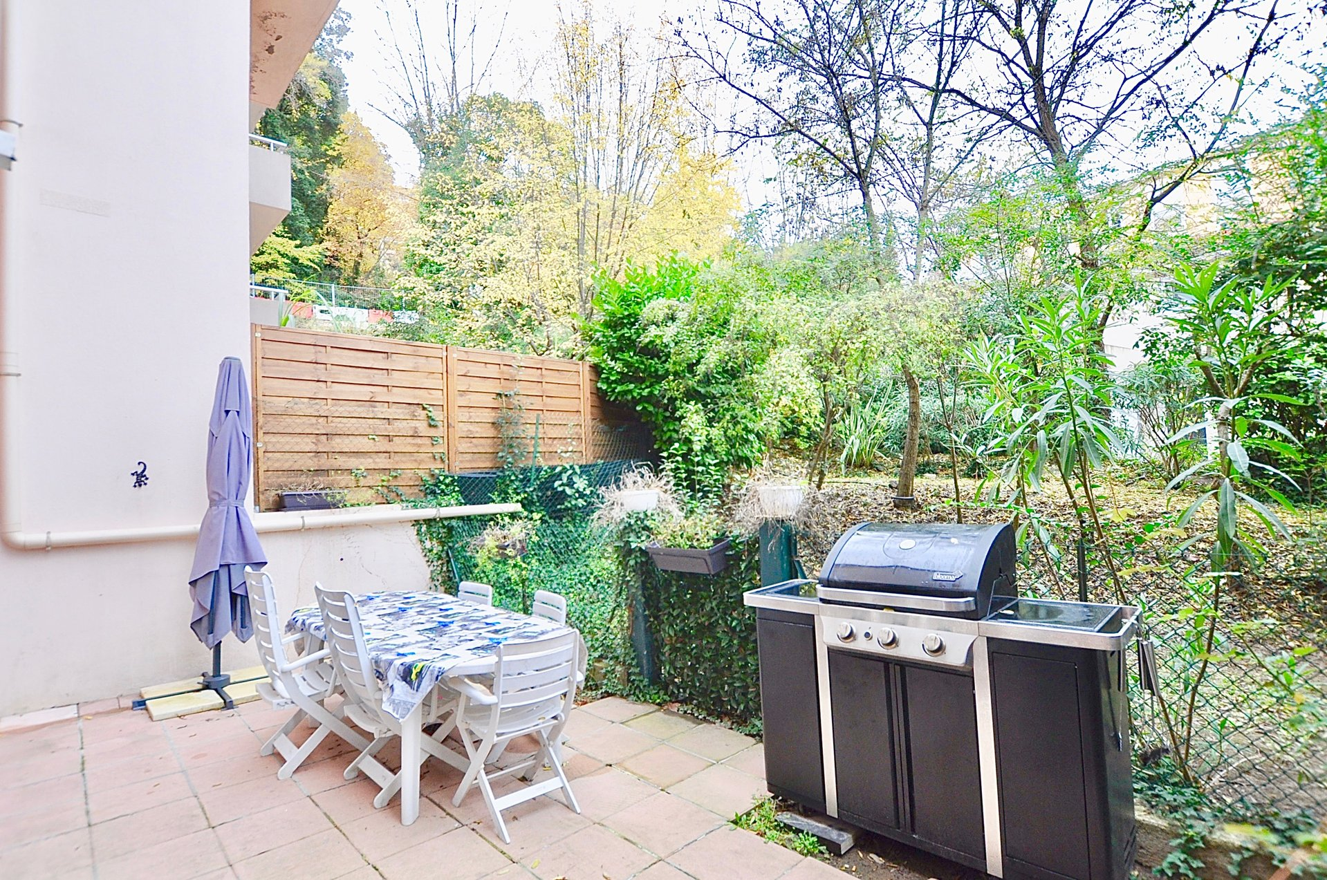 2P terrasse - rez de jardin