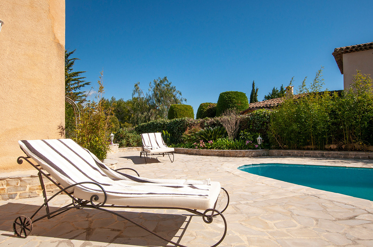 For Sale near Valbonne - 3 bed villa with views in Castellaras area