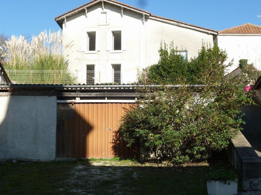Village house to renovate with garden, barn & views walking distance Aubeterre s. Dronne