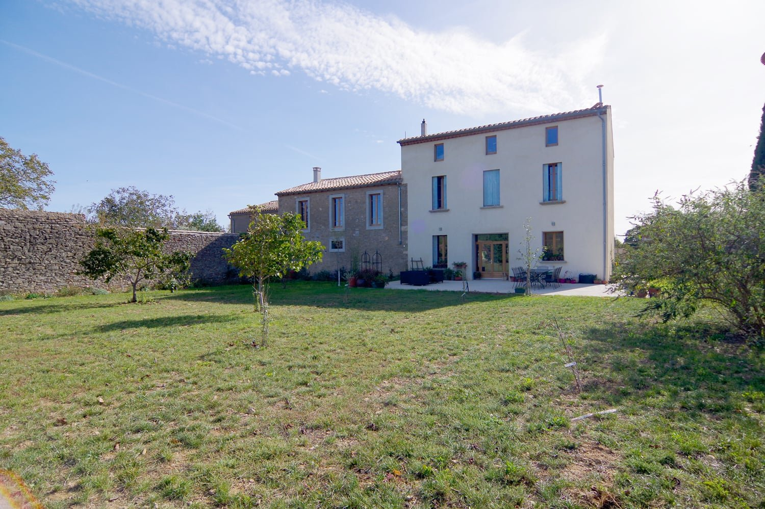 Manor house for sale in Aude, with outbuilding and garden