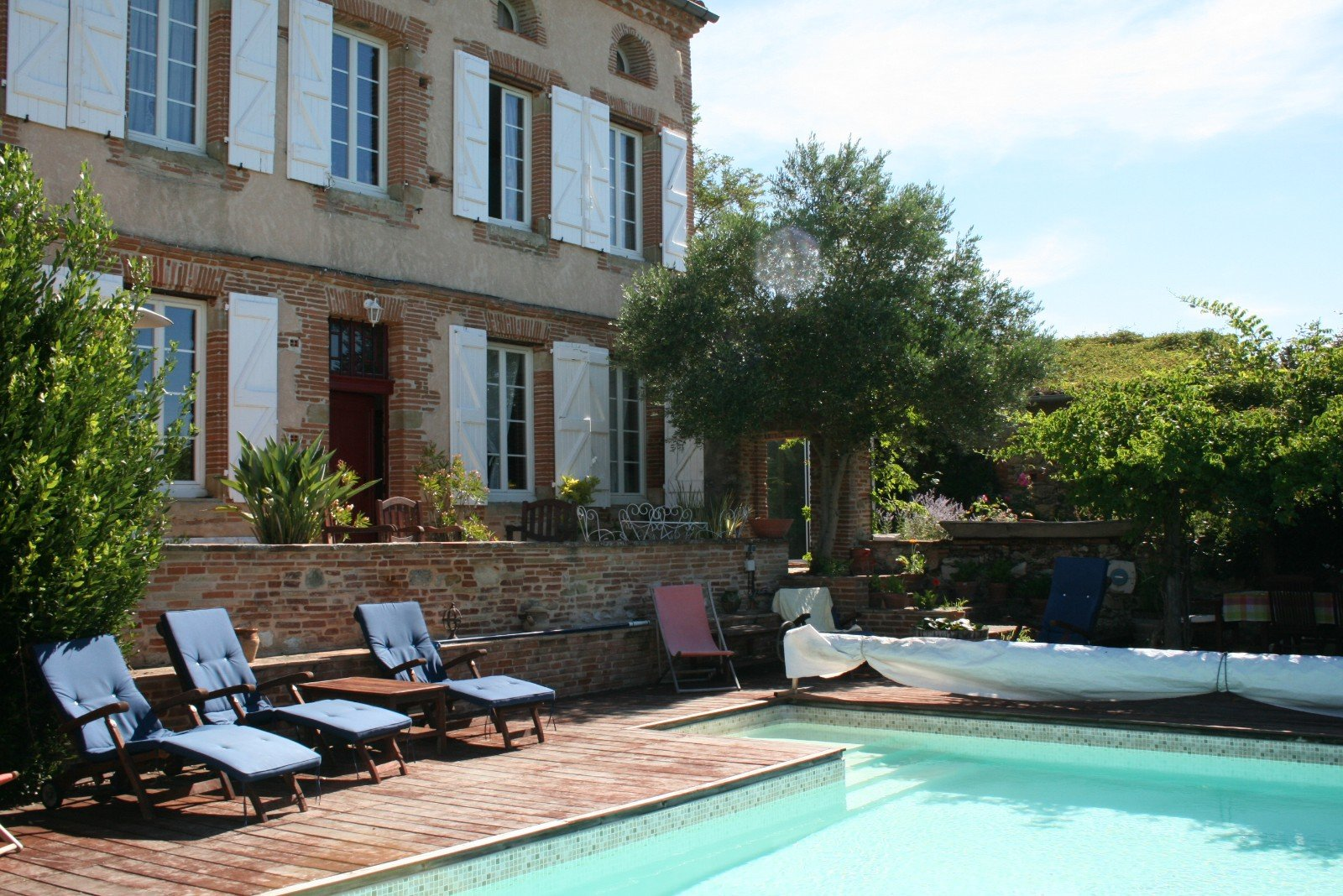 Stunning refurbished former Presbytery, with a pool and views of Tarn countryside and Pyrénées