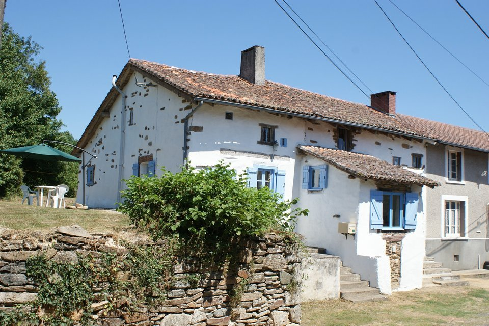 House with loads of character - barns, garden and constructible land