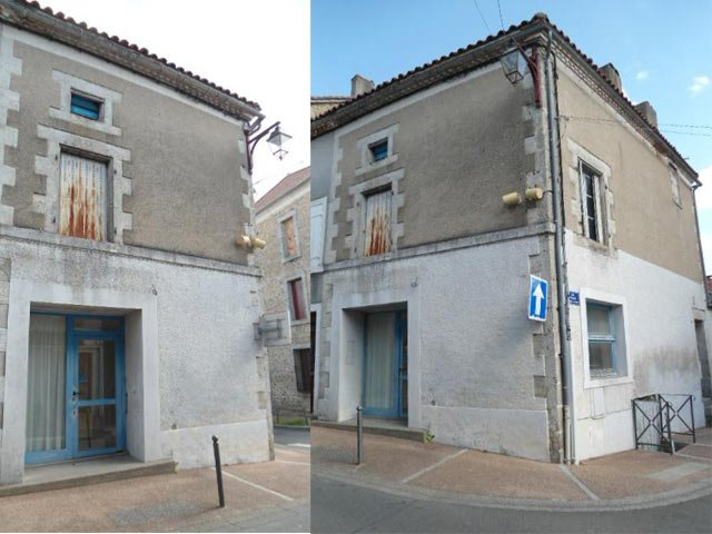 Two-storey town house for sale in North Dordogne market village
