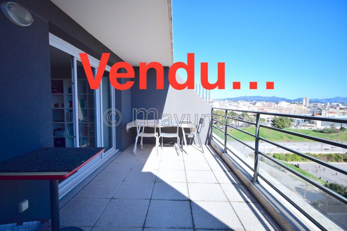 Appartement T3 avec terrasse Cantini- Investissement Marseille 13008
