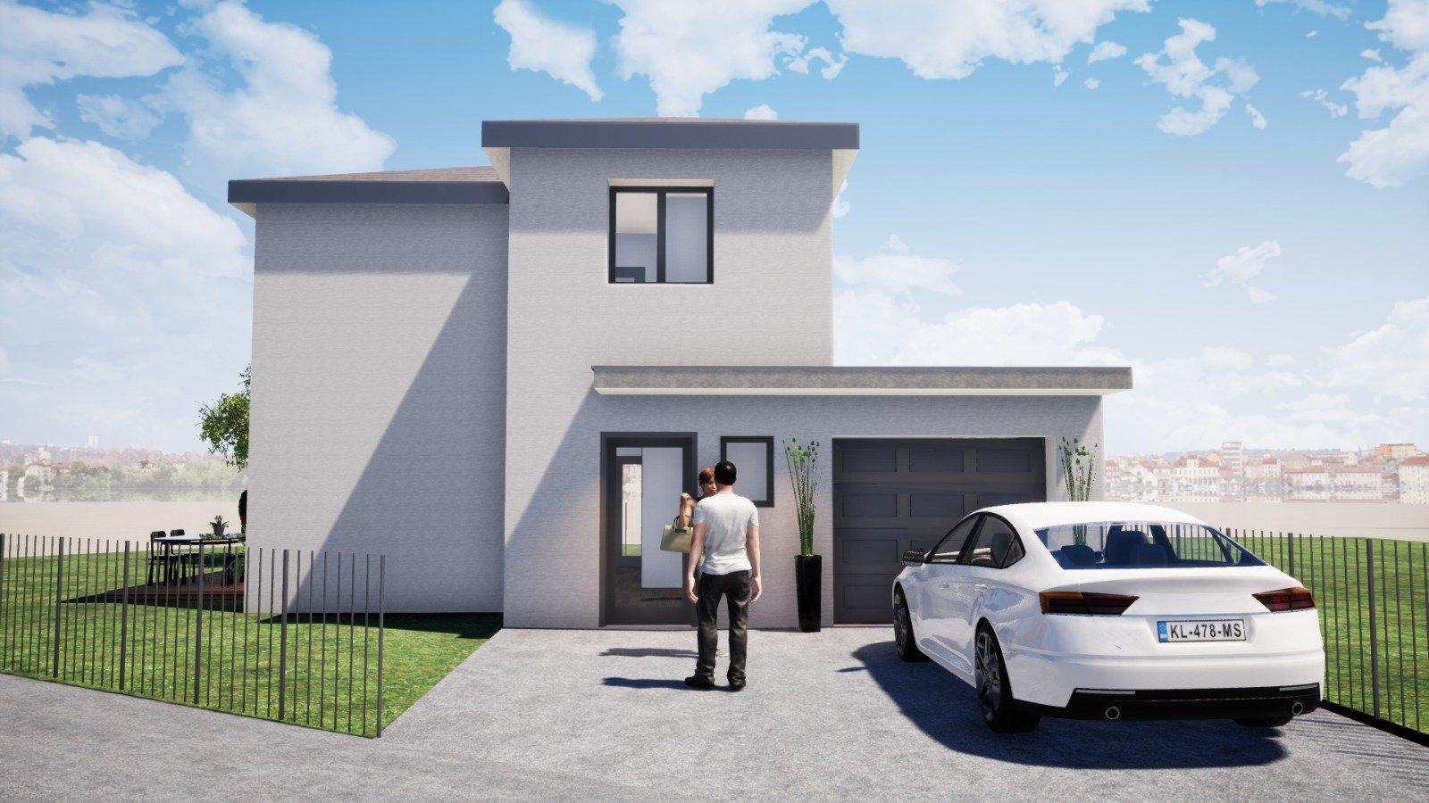 Maison clé en main neuve avec grand jardin