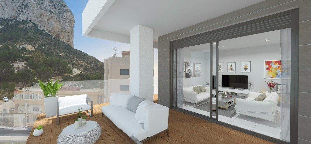 Appartement neuf de 2 chambres à coucher à Calpe