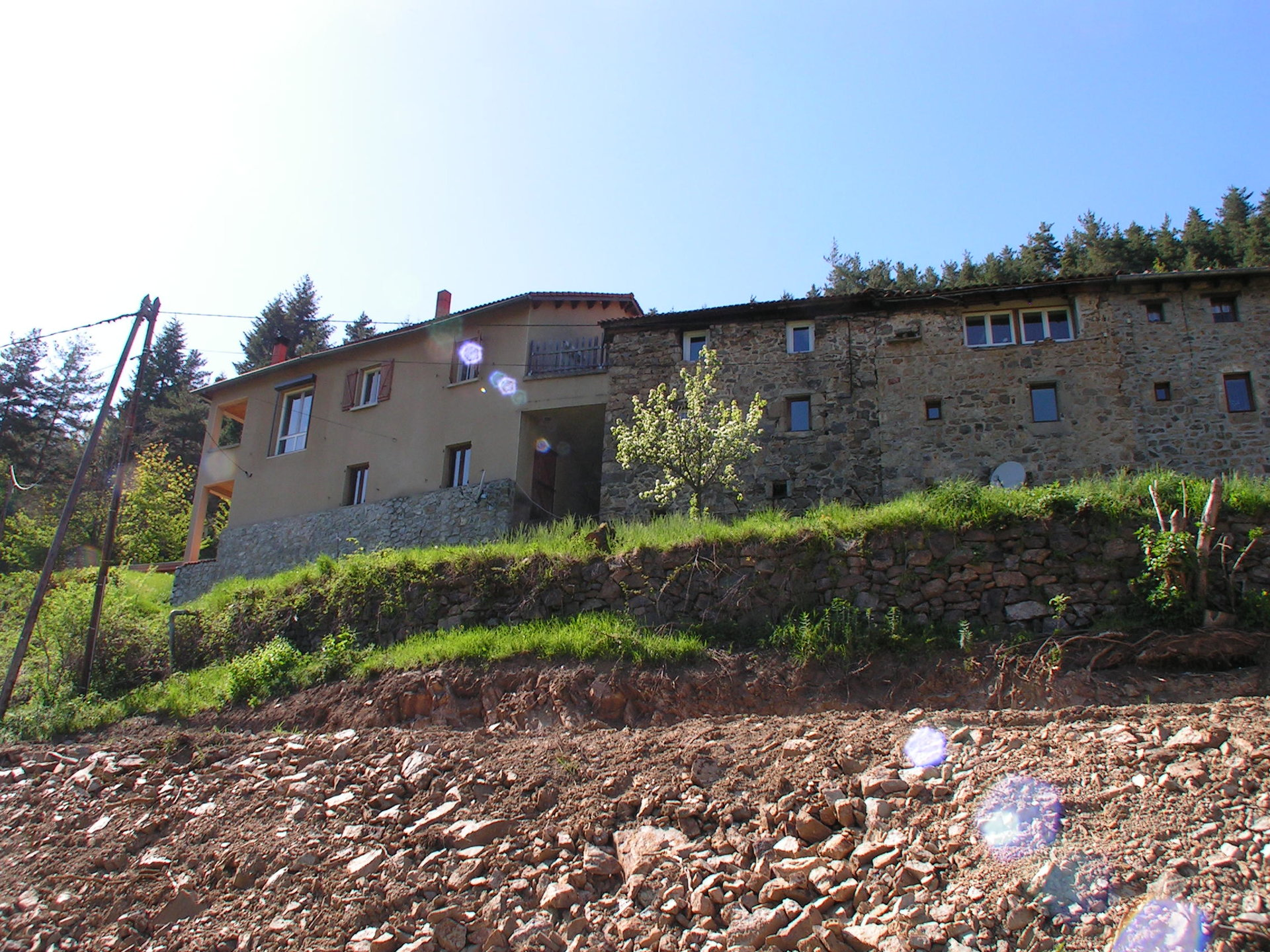 Hamlet with house and 3 gites for sale at Accons, in Ardeche