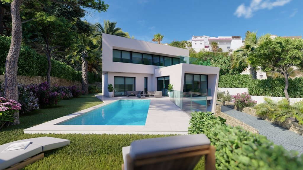 New project of modern style villa in Moraira
