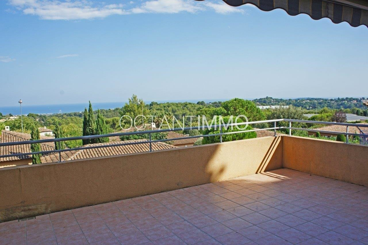 Biot St Philippe - 2 bedrooms appartment with sea view to rent