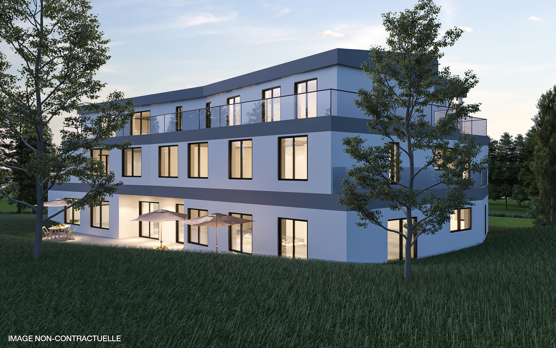 Residence with 6 apartments and 1 office in Junglinster