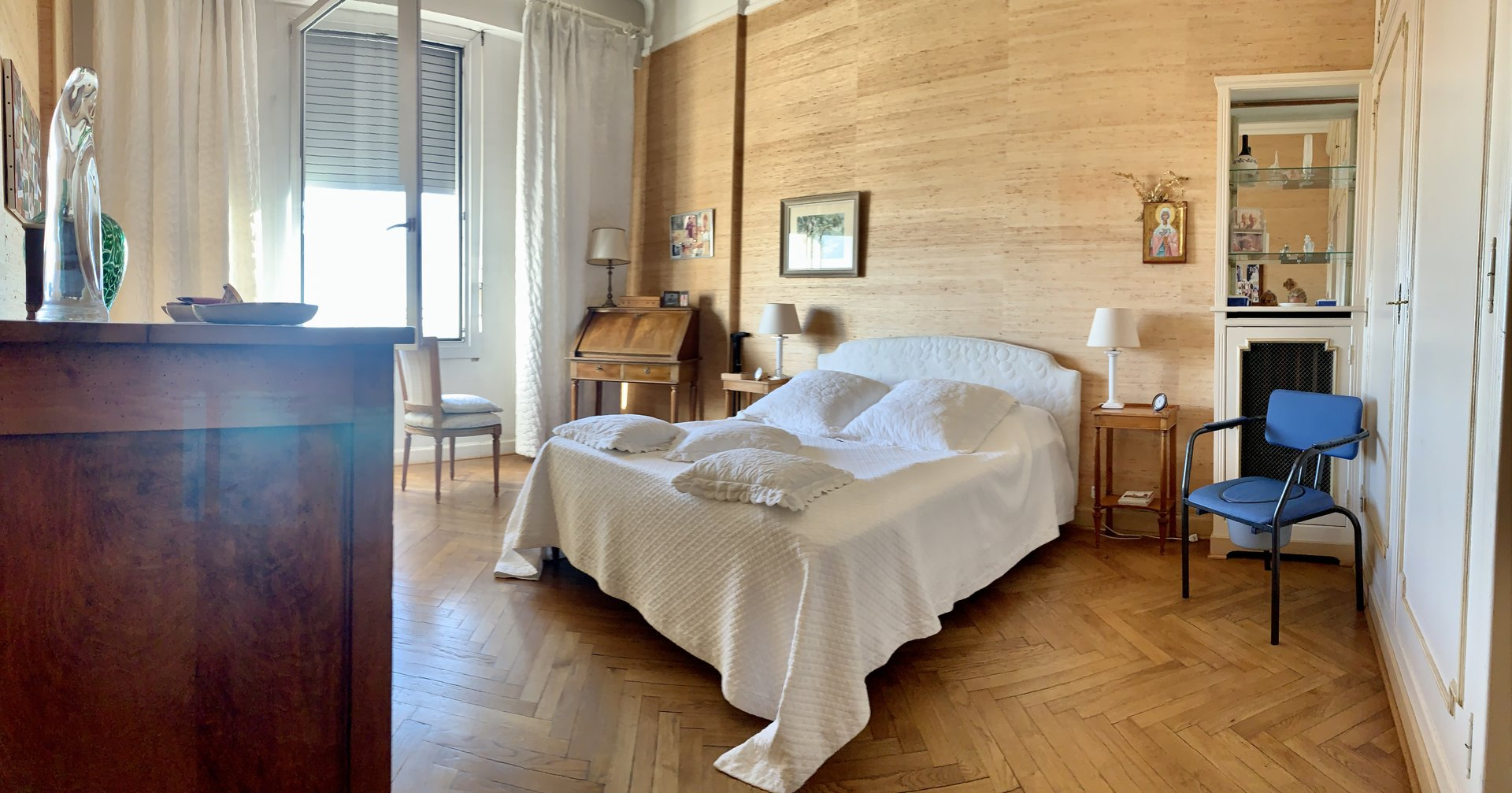 nmaster bedroom with panoramic sea view