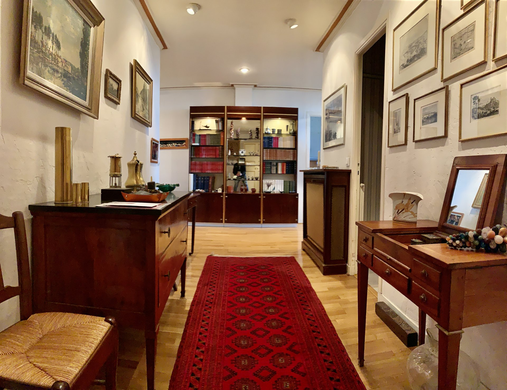spacious hall of entrance with cupboard