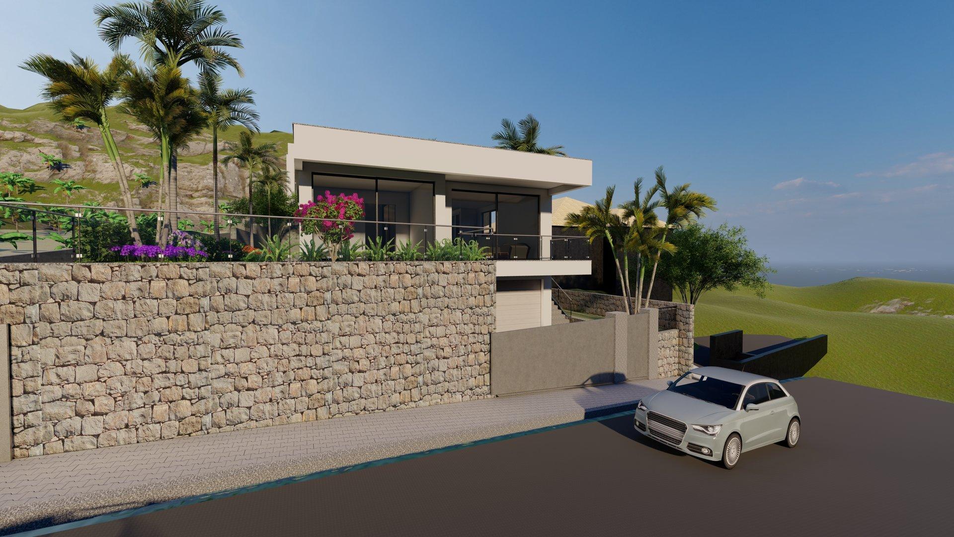 Magnificent new minimalist villa with sea view in Ponta do Sol