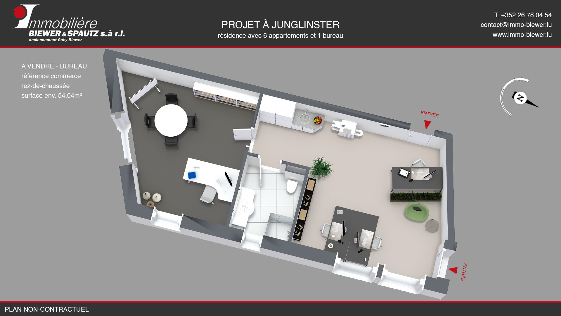 TO SELL - office in Junglinster