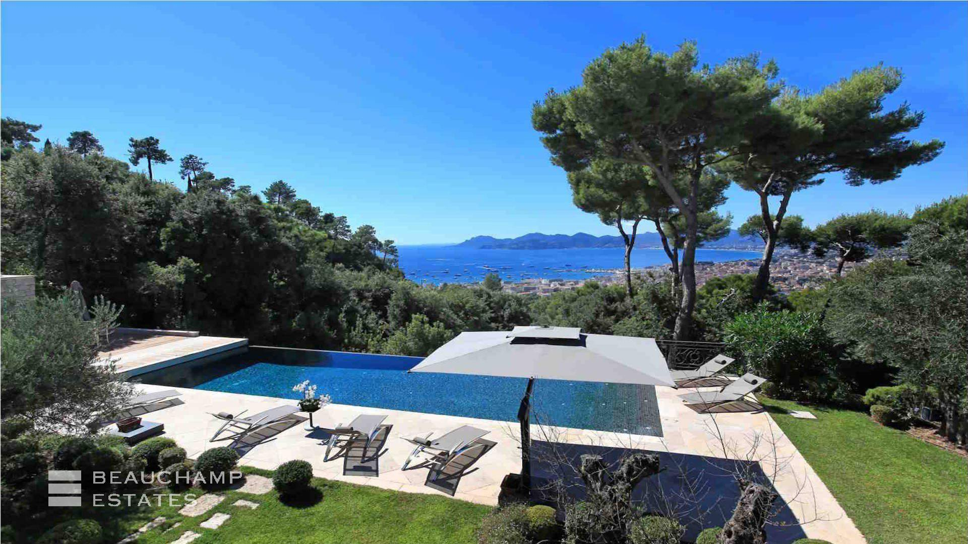 Modern Villa with Panoramic Sea Views in Cannes