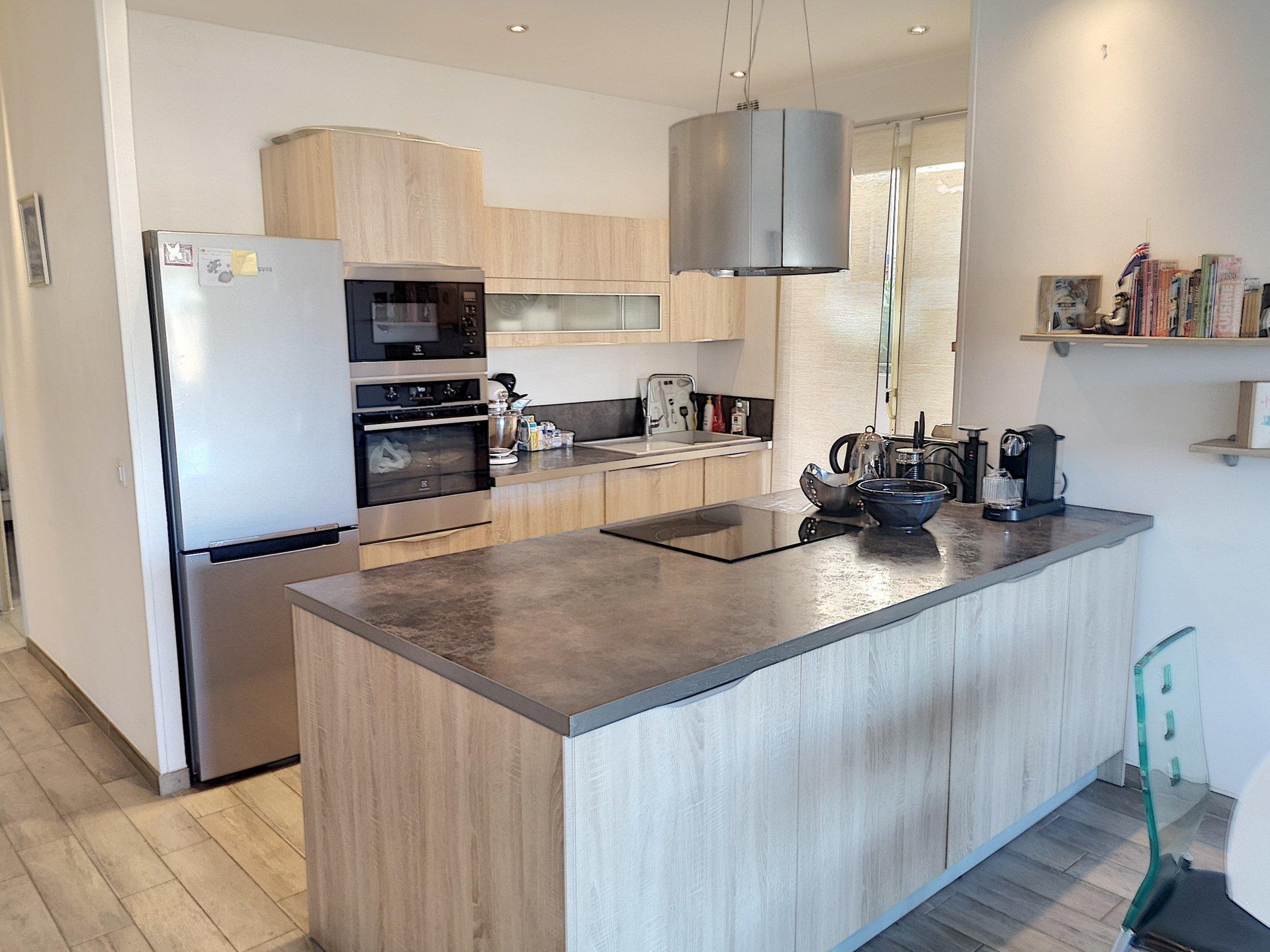 Kitchen island, stainless steel