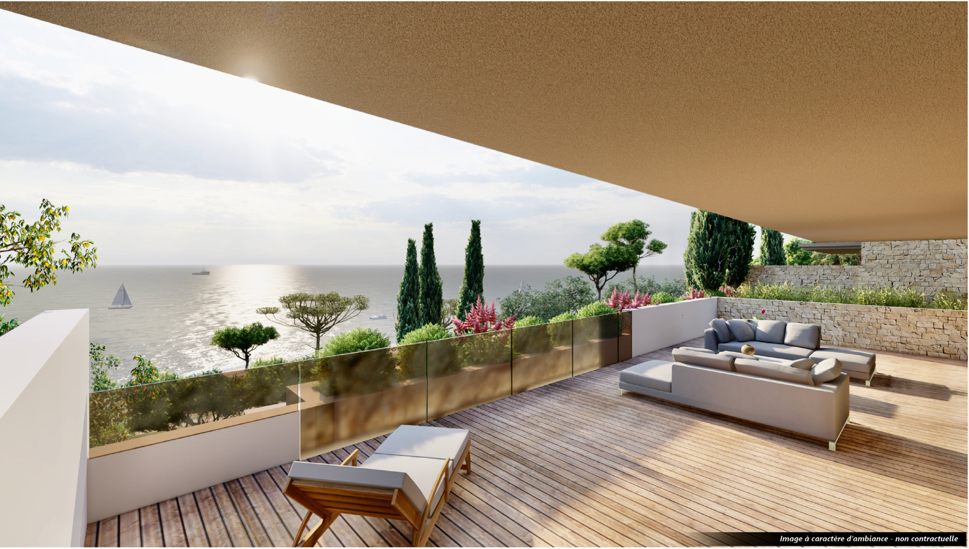 Les Issambres - appartement neuf luxueux de haut standing ( 96,2 m2) - avec une vue mer magnifique.
