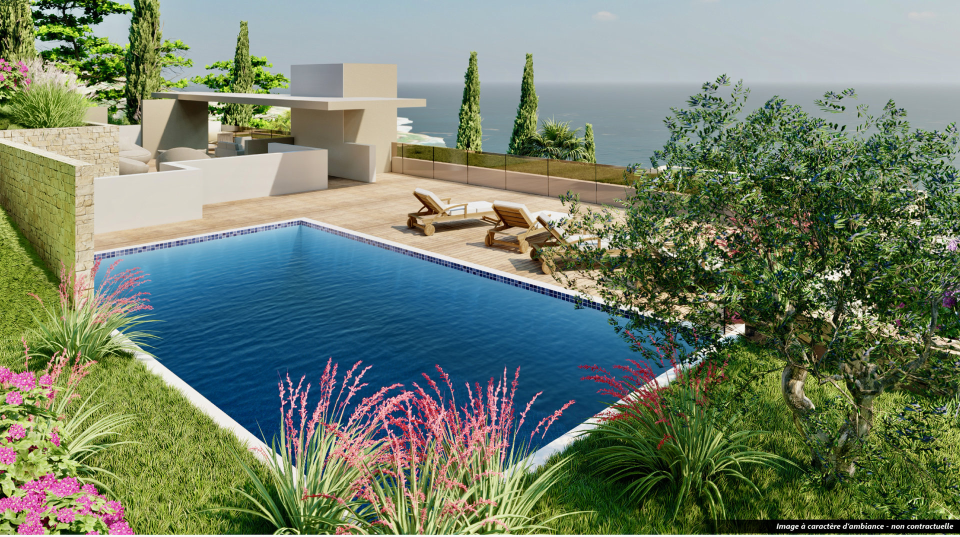 Les Issambres - new construction high standing apartment ( 96,2 m2) - with great sea-view