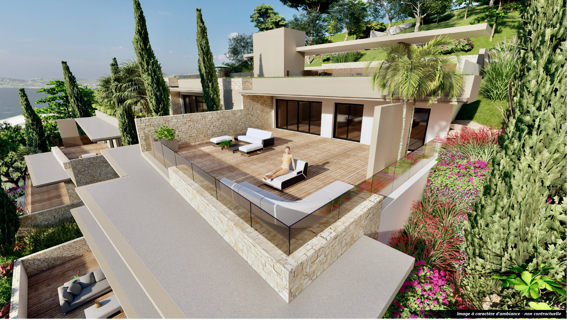 Les Issambres - appartement neuf luxueux de 94,5 m2 -  haut standing avec une vue mer magnifique.