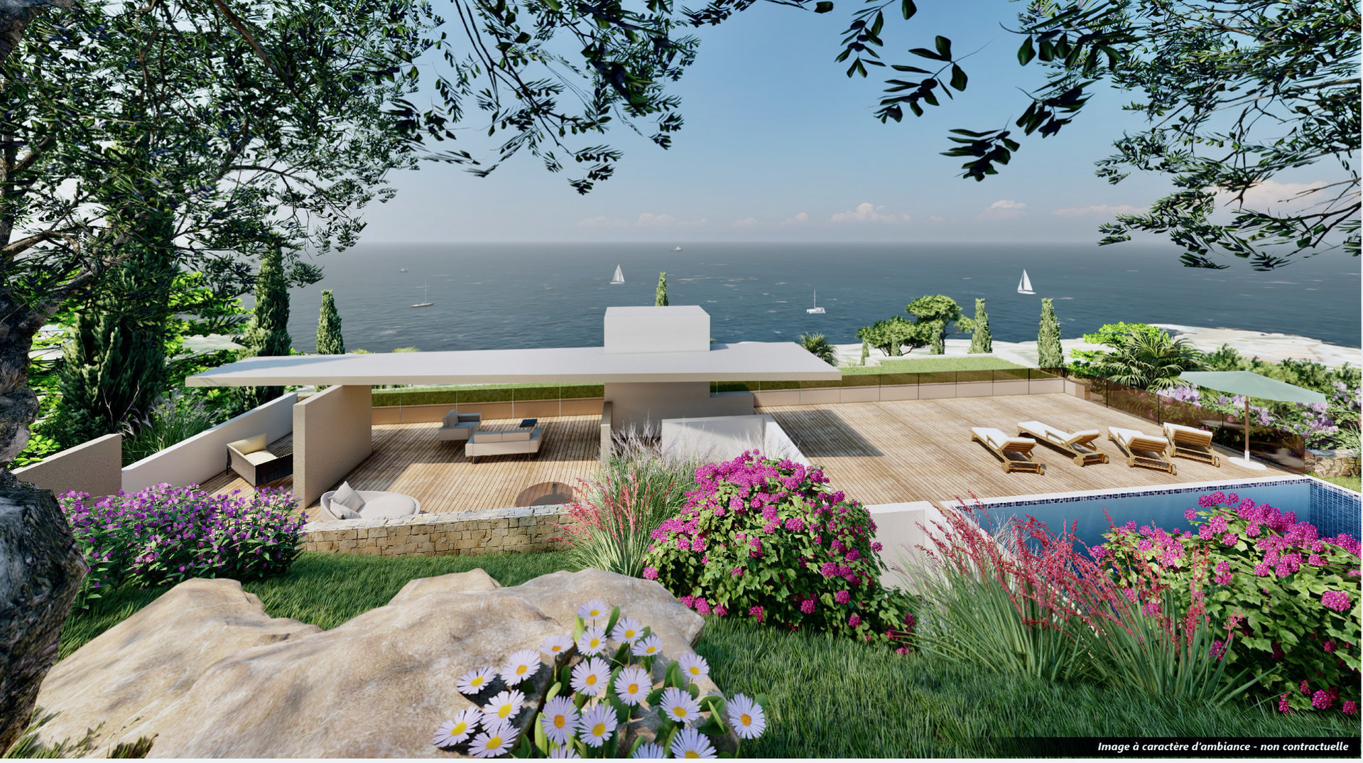 Les Issambres - 90,52 m2 living & 71,5 m2 terrace - New construction high standing apartment with great sea-view