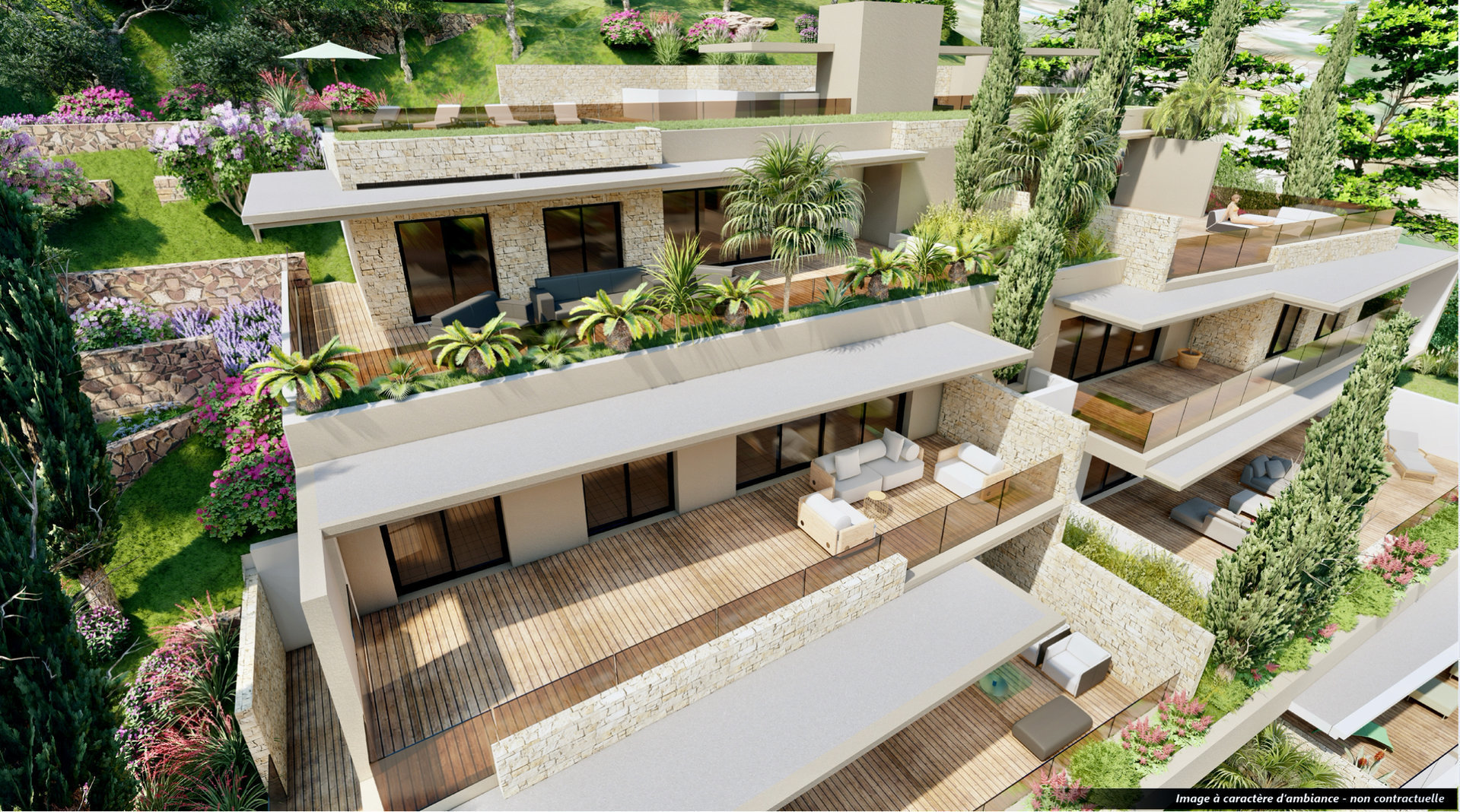 Les Issambres - new construction (93,5 m2 living & 91,5 terrace) high standing apartment with great sea-view