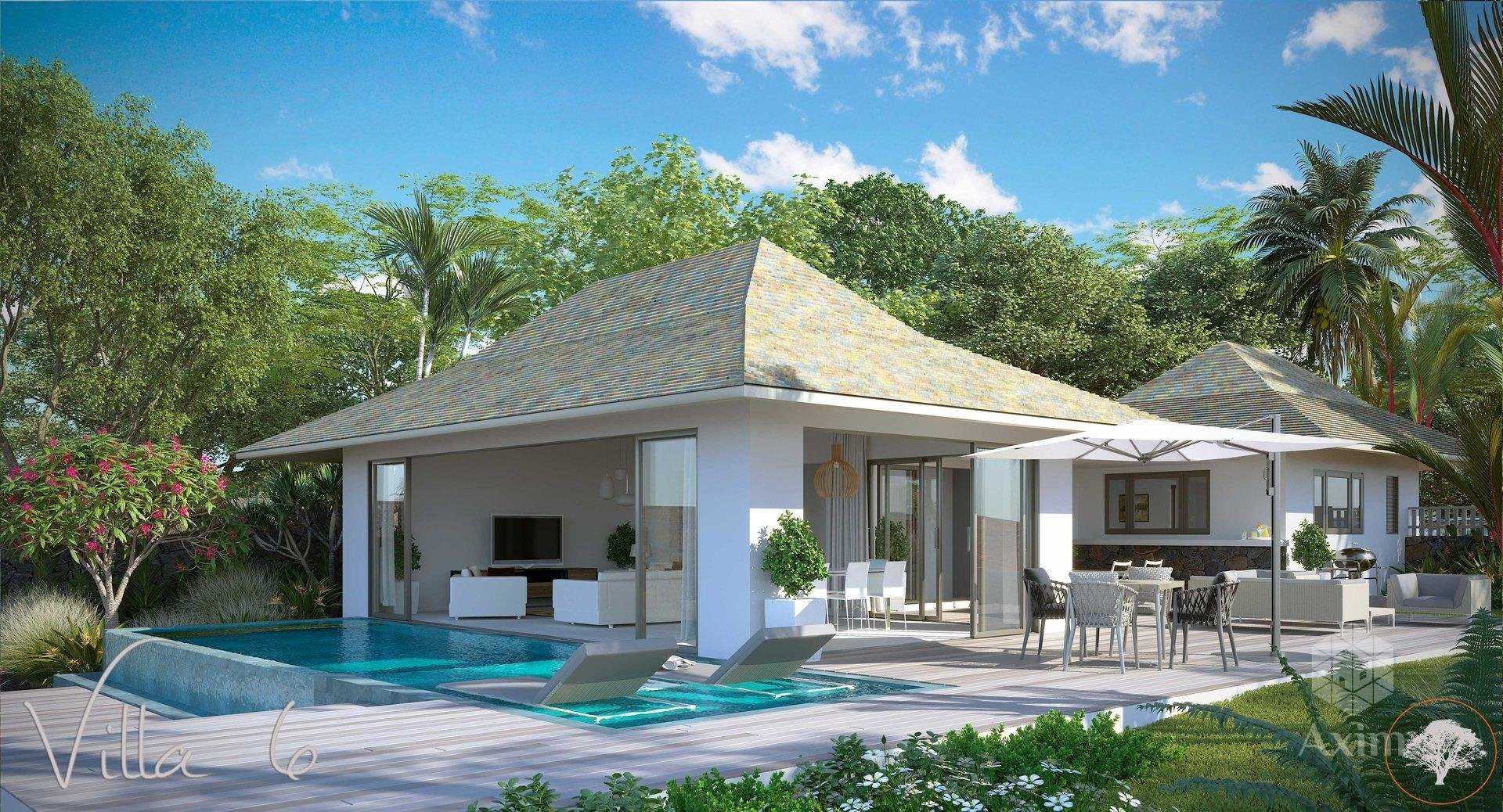 6 luxury villas between sea and mountains in the heart of nature
