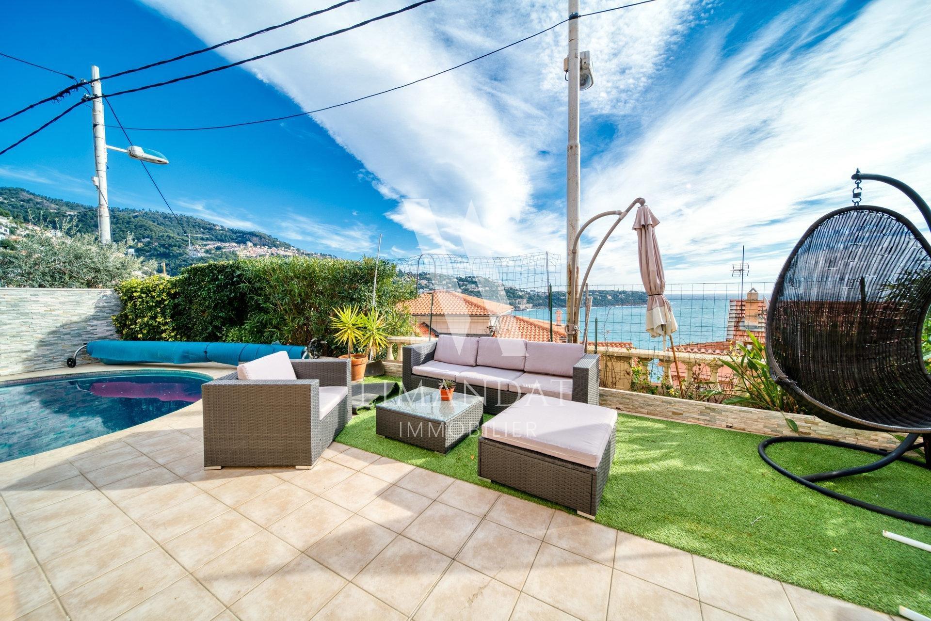 Roquebrune Cap Martin - villa 149 m2 piscina vista mare