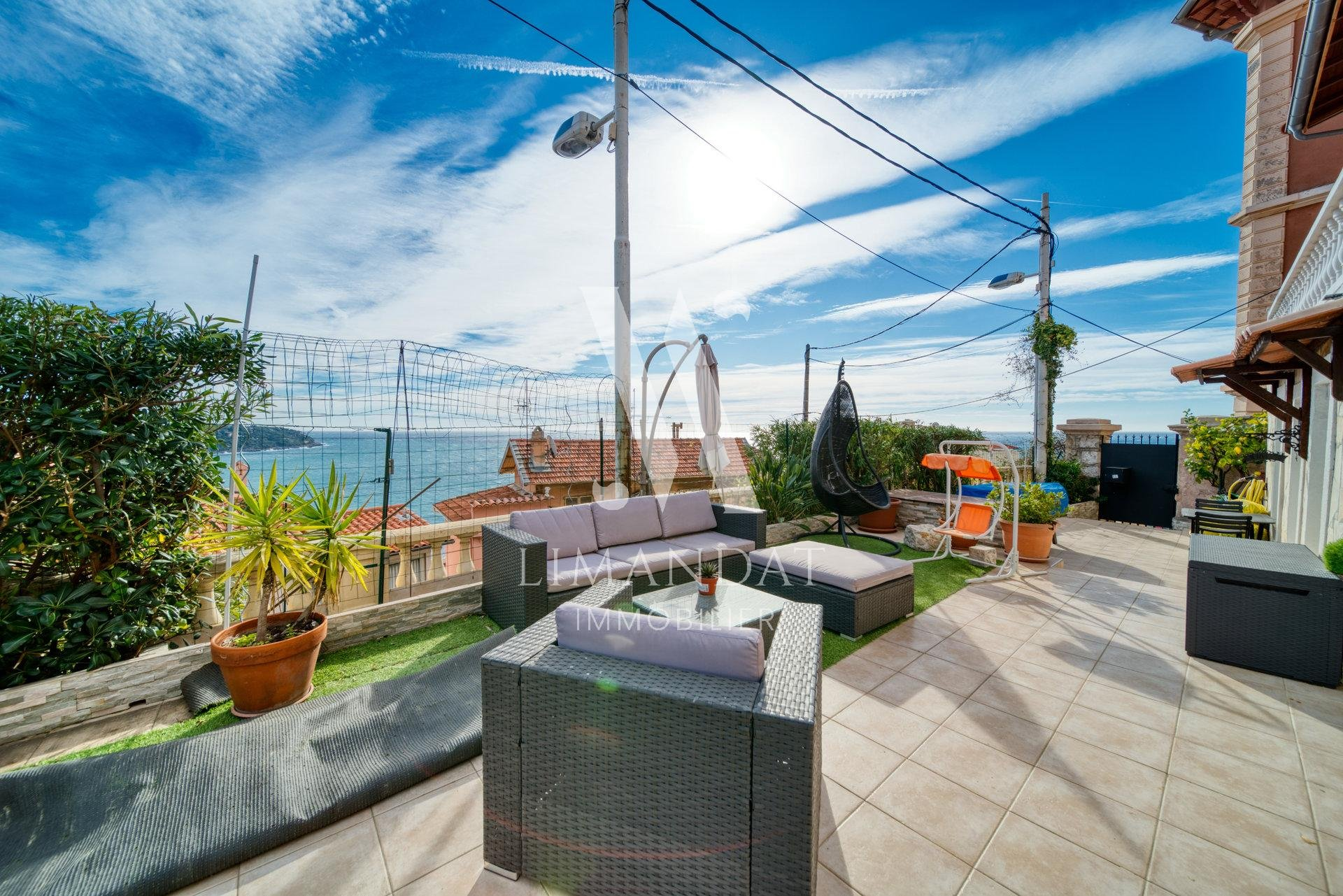 Roquebrune Cap Martin - villa 149 m2 swimming pool sea view