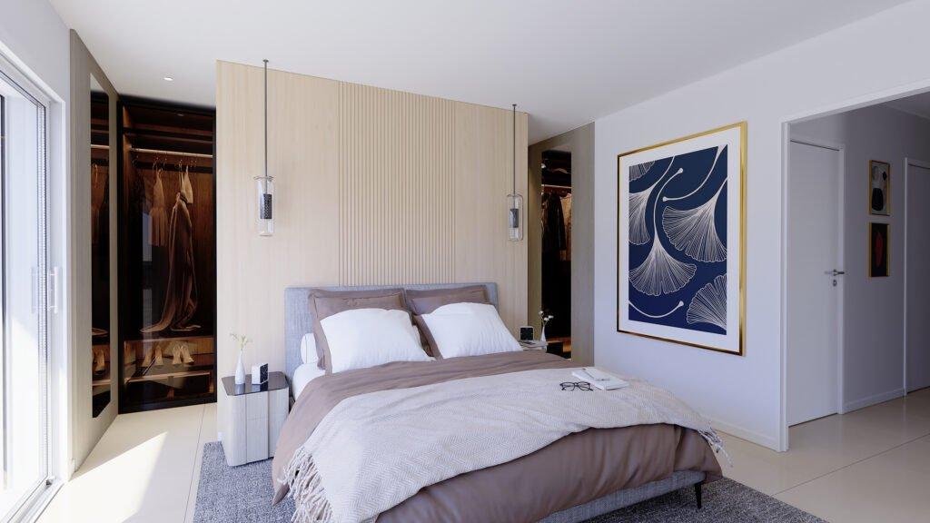 Palm Beach Cannes - villa sur le toit dans residence neuve