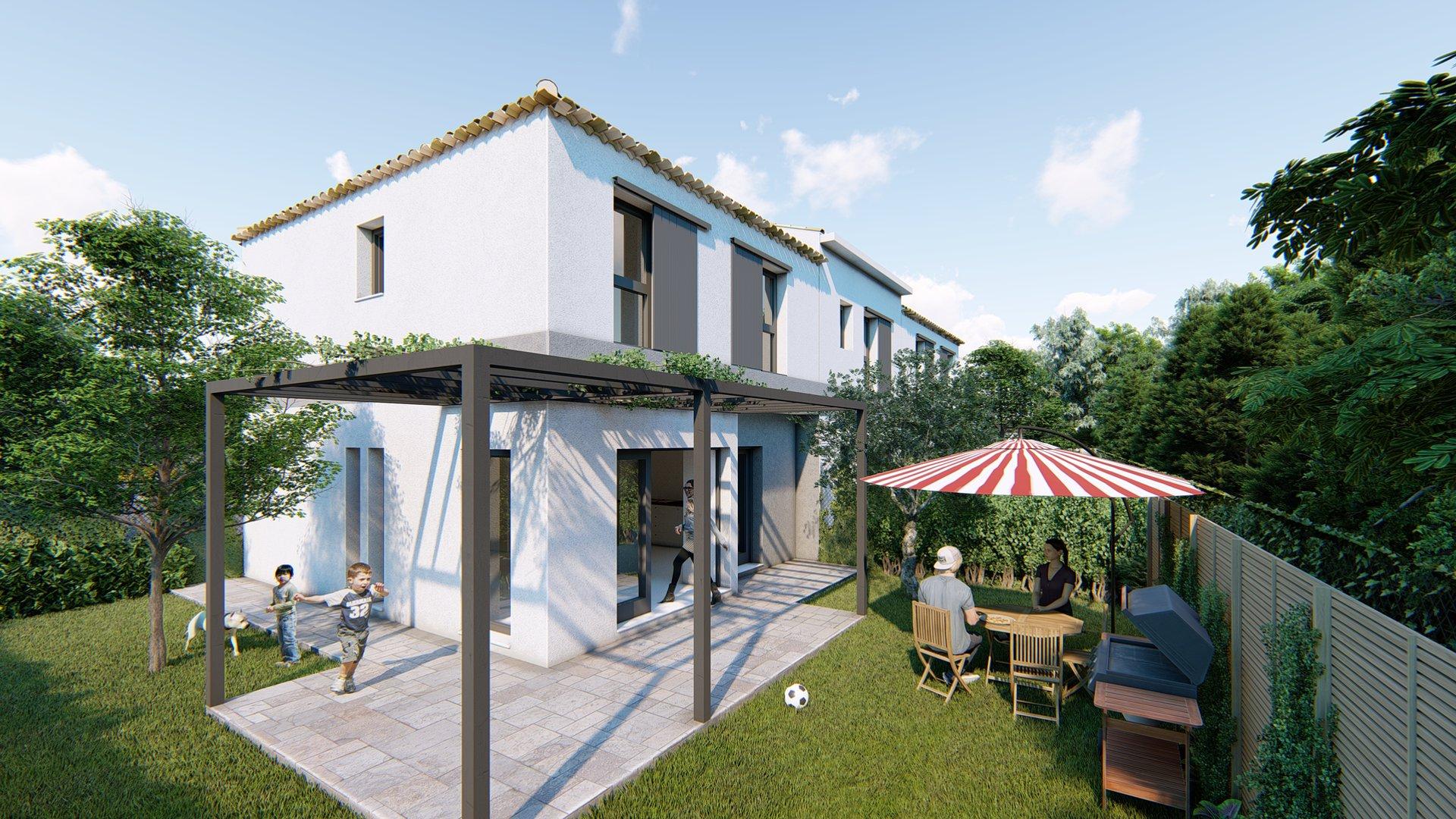LE CLOS DES QUATRE SAISONS Appart T3 de 58m2 avec terrasse et jardin
