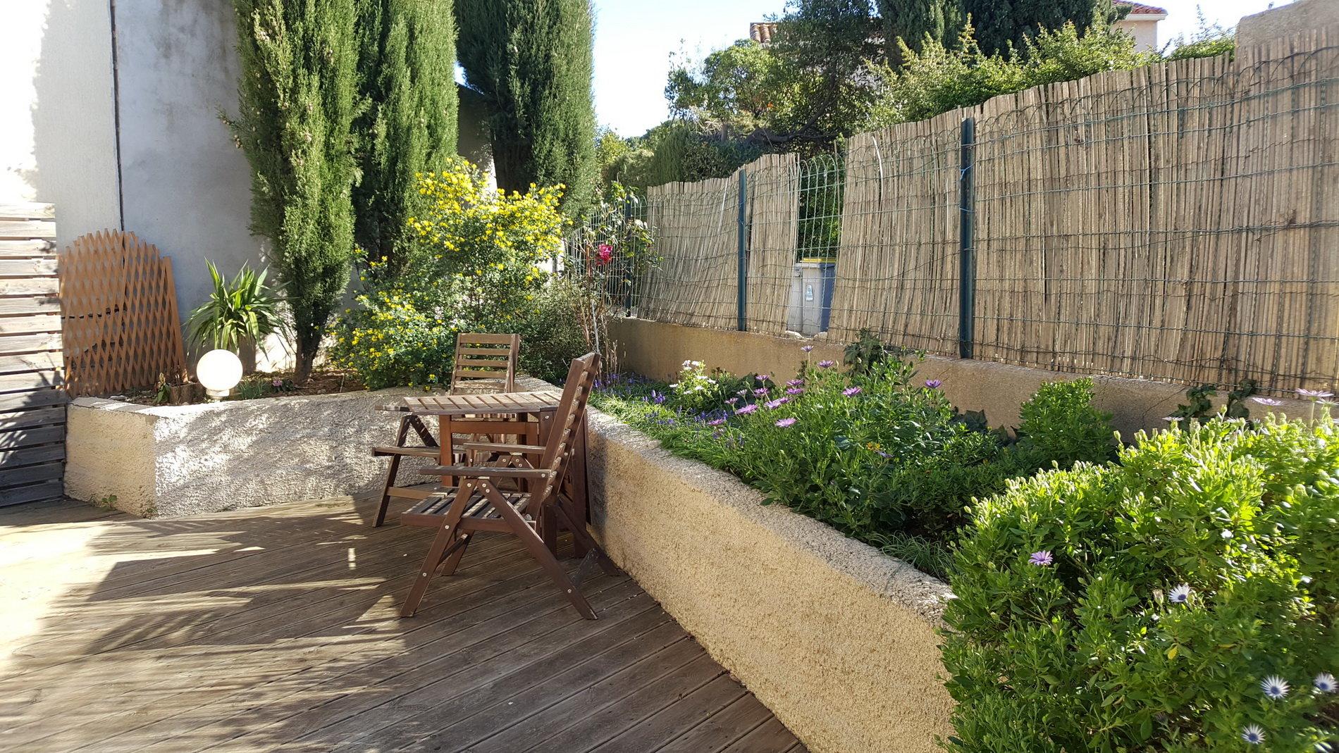 Trädgård på baksida